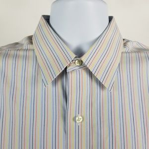 Brooks Brothers Slim Fit Non Iron Striped 15.5-35
